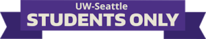 Uw Seattle Students Only Ribbon